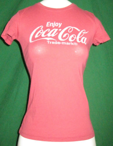 "Coca Cola Womens TRD Mark ""Enjoy Coca Cola"" Red Small T Shirt New 