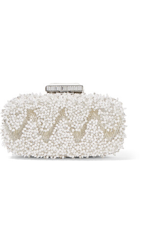 embellished clutch satin bag