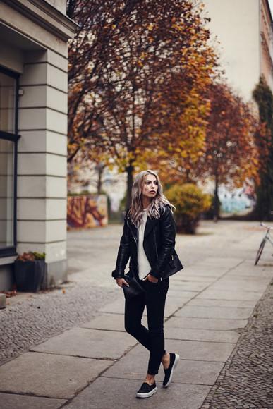 blogger vans masha sedgwick jacket jeans casual