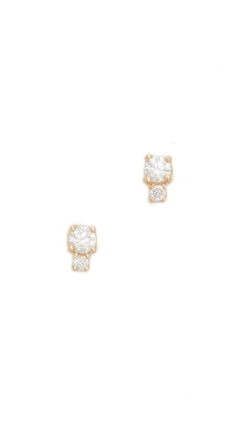 Ariel Gordon Jewelry Diamond Spotlight Stud Earrings - Gold/Clear