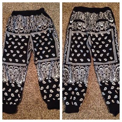 Black bandana joggers · thug fashion · online store powered by storenvy