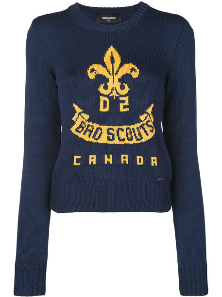 Dsquared2 sweater women cotton blue