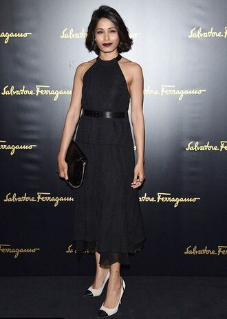 shoes pumps fashion week 2015 freida pinto