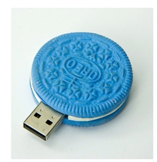 jewels oreos memory memory stick light blue cookie monster technology oreo flash drive