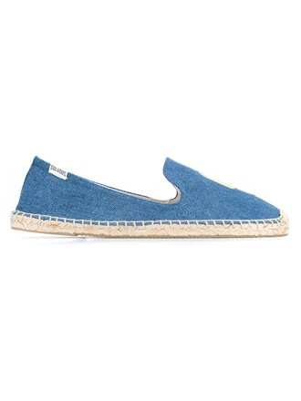 denim blue shoes