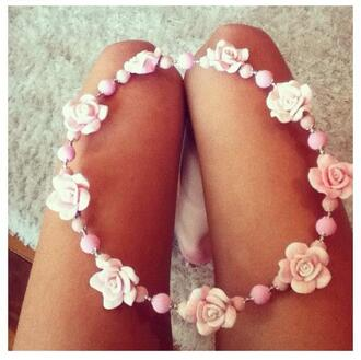 jewels flower crown pink pastel cute girly fashion headband