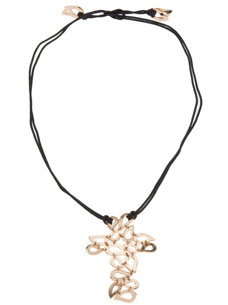 Gavello women necklace gold black jewels