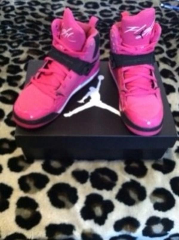 Womens Jordan Flight 45 High Vivid Pink/Black [Cheap Brand Shoes ...