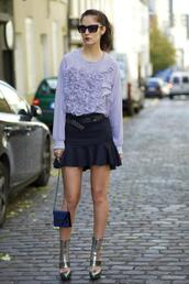 from brussels with love,blogger,top,bag,belt,blouse,ruffle