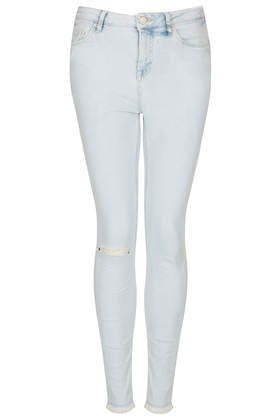 MOTO Ripped Bleach Wash Jamie Jeans - Topshop