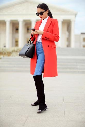 aibina's blog blogger shoes sunglasses bag jeans coat