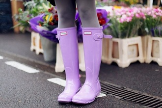 shoes hunter boots lilac