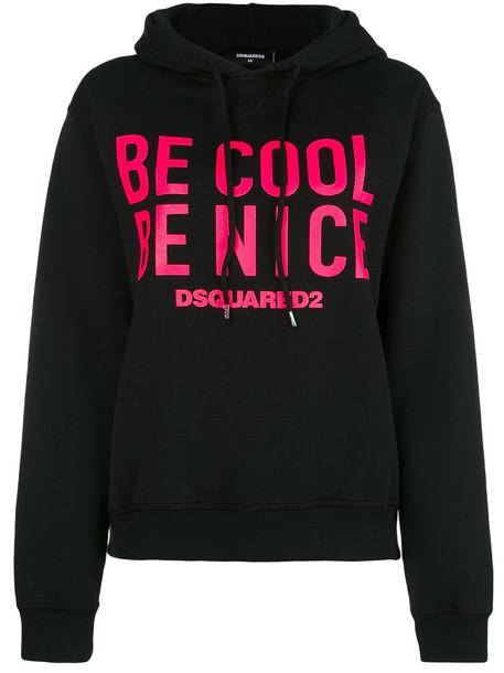 Dsquared2 hoodie nice women spandex cotton black sweater