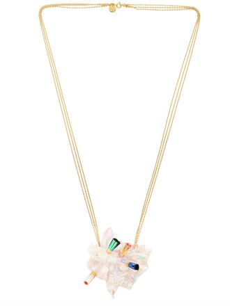 beach necklace white jewels