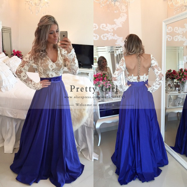 d9fe2dc8834 Aliexpress.com   Buy Amazing Royal Blue Shining Sequined Long Mermaid  Evening Dresses One Shoulder Backless Sexy Slit Formal Prom Party Dress ...