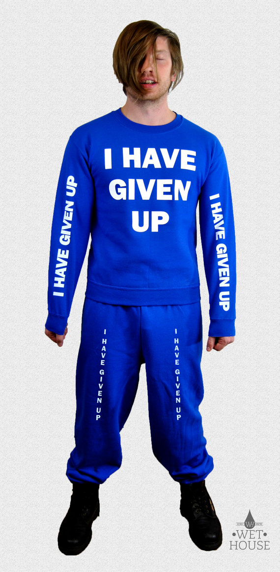 I Have Given Up Sweat Suit // royal blue sweatshirt by wethouse