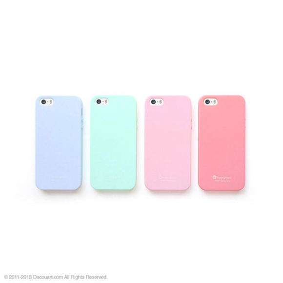 pink pastel mint phone case soft baby pink baby blue