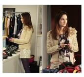 jacket,gossip girl,blair,skirt,blouse,tights
