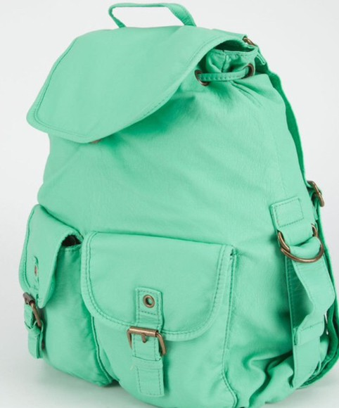 bag mint canvas canvas backpack