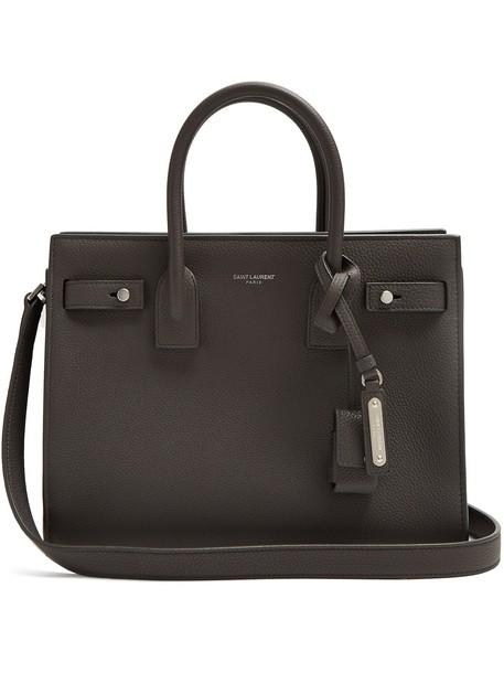 Saint Laurent baby leather dark grey bag