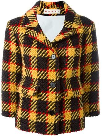 jacket knit yellow orange