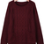 Wine Red Long Sleeve Pockets Cable Knit Sweater - Sheinside.com
