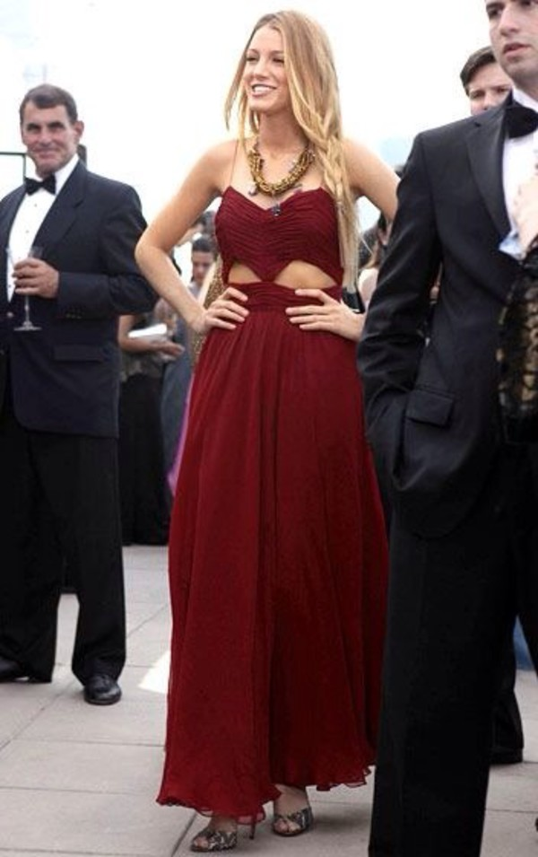 red dress blake lively dress gown