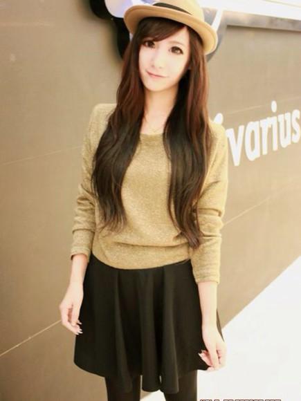skirt black skirt