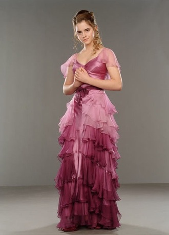 dress pink harry potter pink dress prom cute prom dress high-low dresses hermione