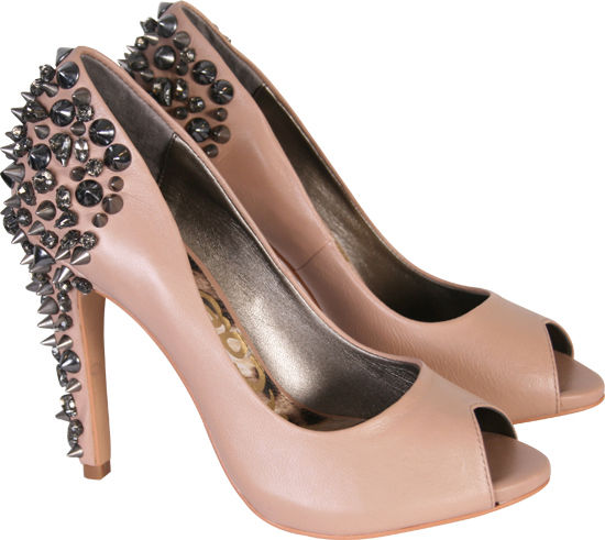 Sam Edelman Womens Lorissa Studded Nude Court Heel Shoes | eBay