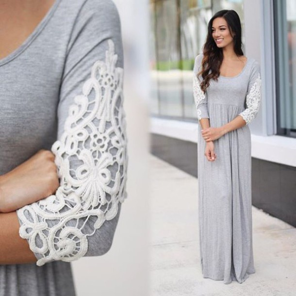 Maxi dress long sleeve casual