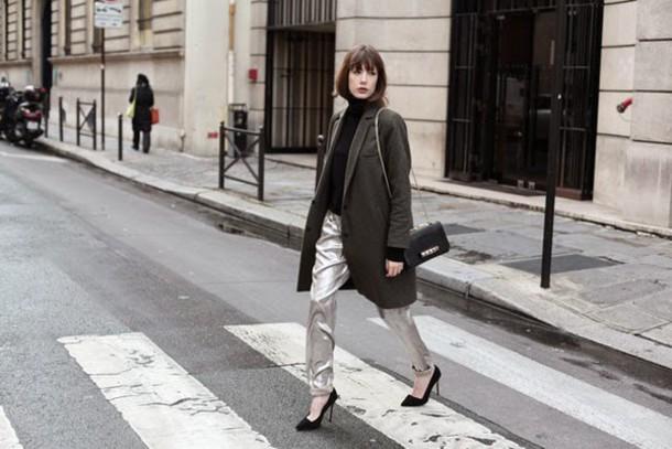 into your closet blogger coat pants bag shoes