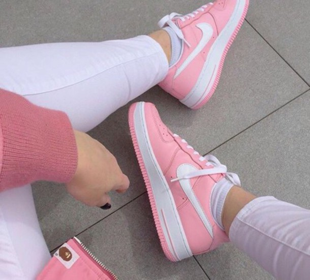 pink nike air force