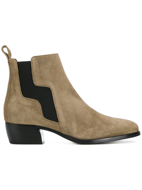 Pierre Hardy women leather nude suede shoes