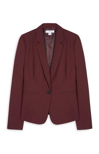 jacket blazer wine red