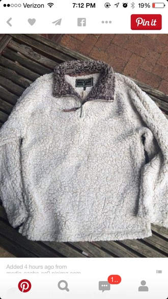 sweater sheep wool quarter zip pullover cozy