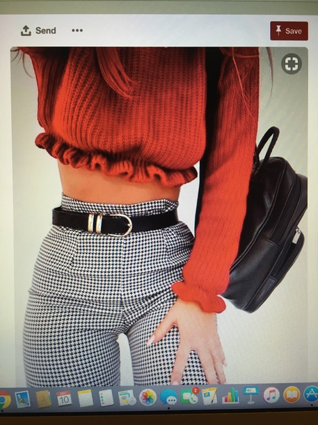 sweater red cropped jumper