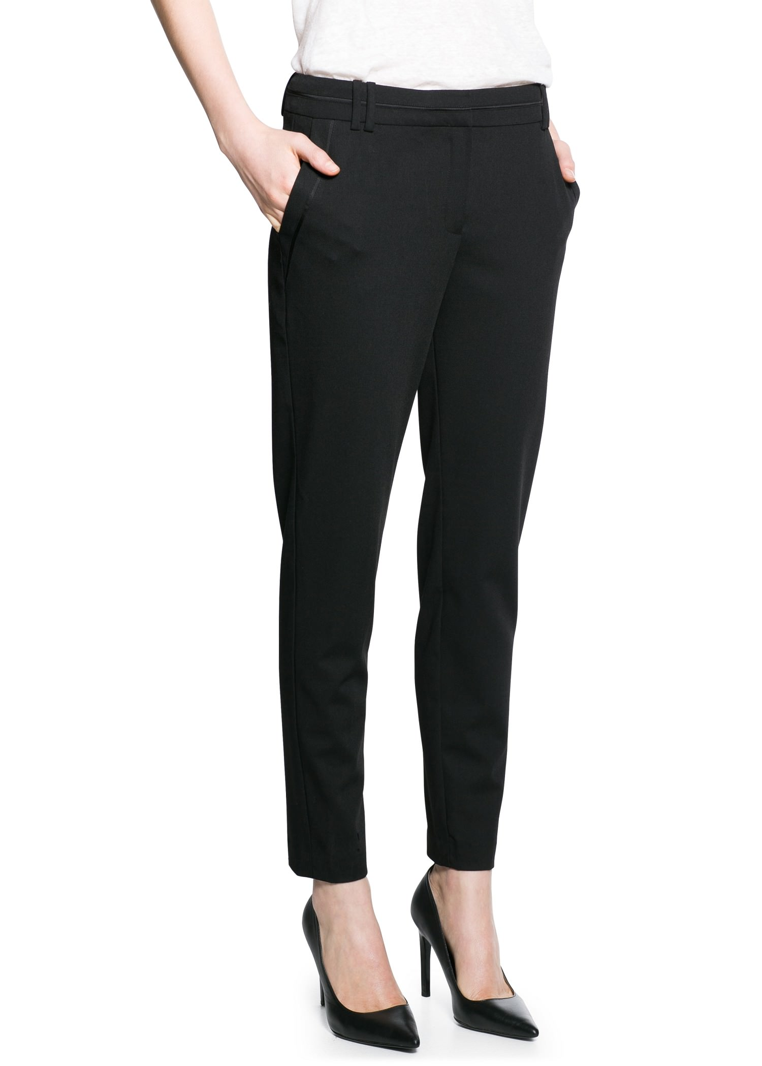 Slim-fit suit trousers - Women | MANGO