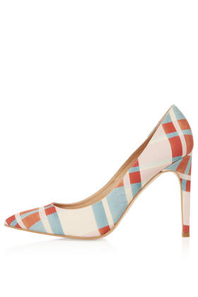 GLORY Check Print Court Shoes- Topshop