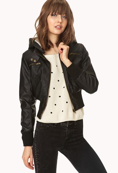 jacket black jacket leather jacket
