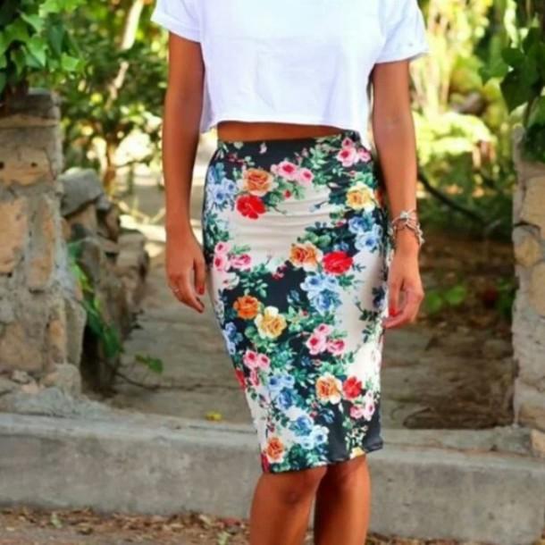 skirt floral skirt floral midiskirt floralmidiskirt high waisted skirt