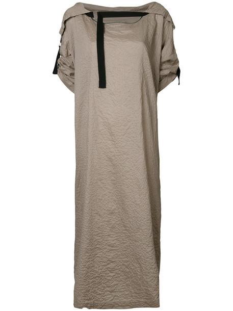 Zambesi dress oversized women nude cotton