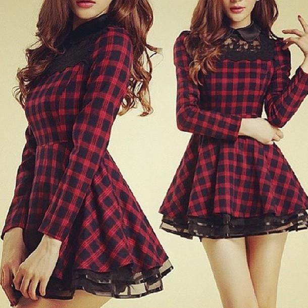 dress plaid short
