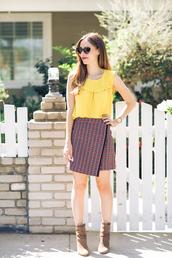 m loves m,blogger,top,jacket,skirt,shoes,sunglasses,make-up,bag,jewels