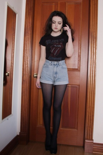 shorts grunge soft grunge indie band underwear