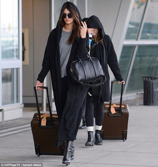 coat cape jacket sweater kendall jenner louis vuitton oversized sweater