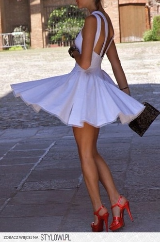 dress white dress cut out dress backless dress