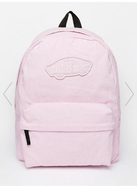 Bag: vans, pink backpack, backpack, pink, asos, light pink ...
