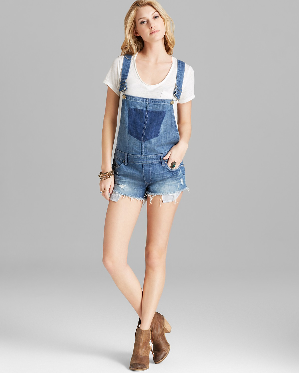 BLANKNYC Shortalls - Bunch Of Fives Denim | Bloomingdale's