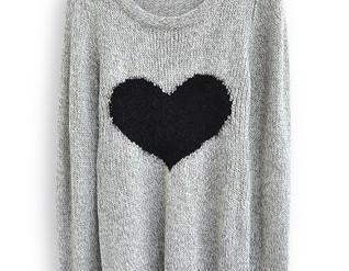Light Grey Long Sleeve Love Heart S..
